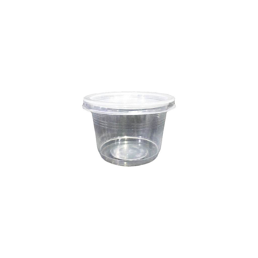 Ice Cream Cup Set, Clear, 3.5oz. [50pcs.]