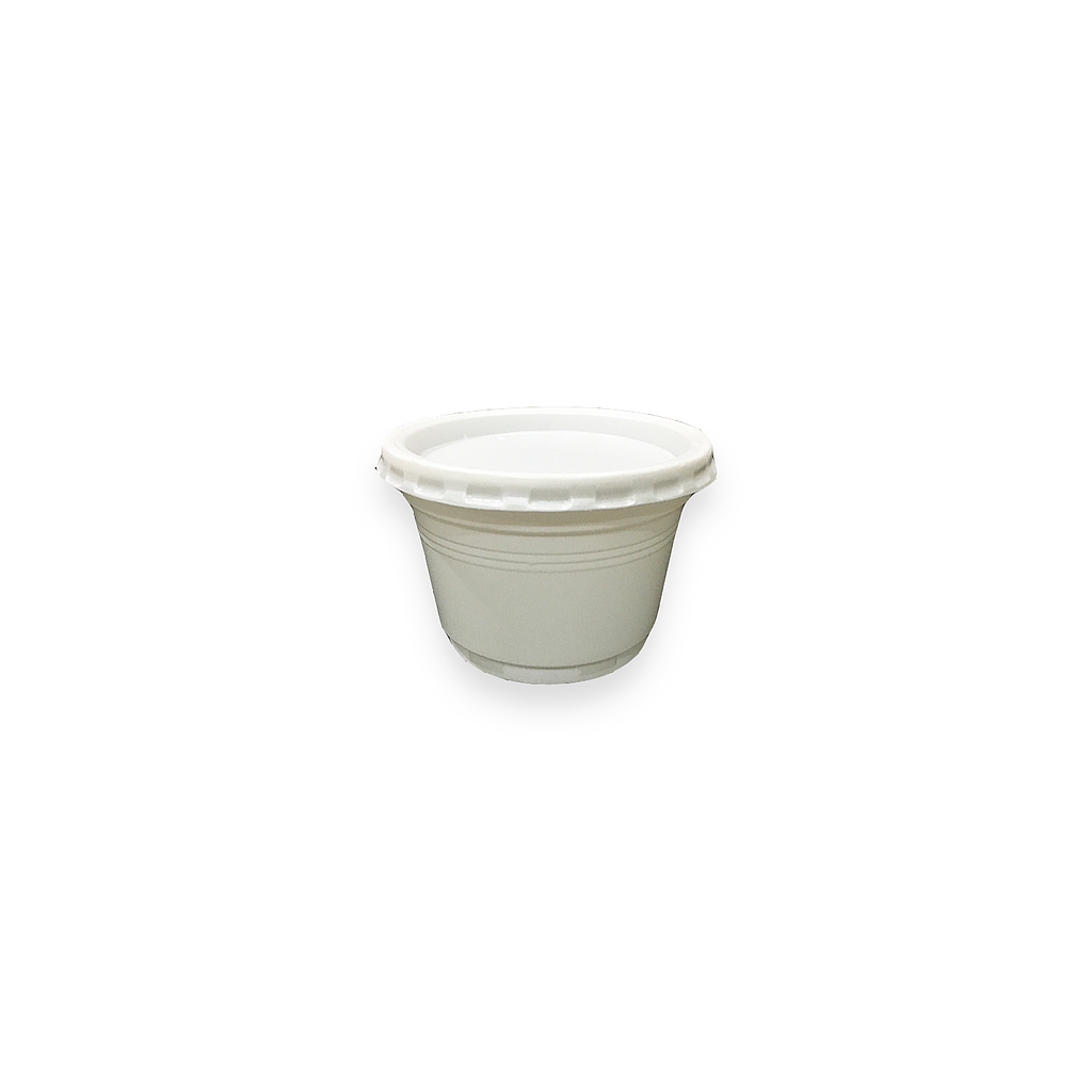 Ice Cream Cup Set, White, 3.5oz. [50pcs.]