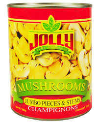 Jolly Mushrooms, Pieces & Stems 850g.