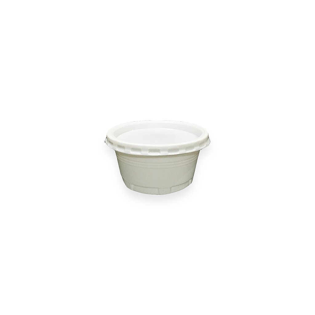 Ice Cream Cup Set, White, 2.5oz. | 1000pcs.