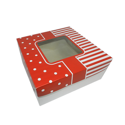 "Generic Cake Box w/ Window 12x12x4"" (100pcs) 