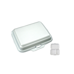 Styro Meal Box (2 Division) | 100 Pieces