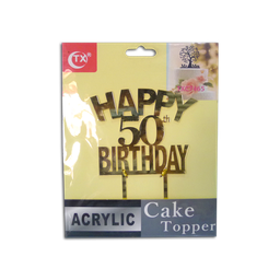 Acrylic Topper (50th Birthday)