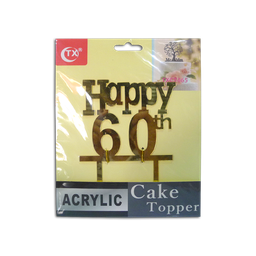 Acrylic Topper (60th Birthday)