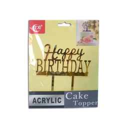 Acrylic Topper (Happy Birthday)