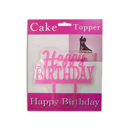 Acrylic Topper - Pastel (Happy Birthday)