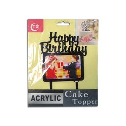 Acrylic Topper (Happy Birthday w/ Frame)