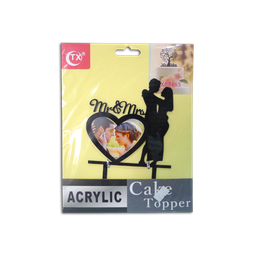 Acrylic Topper (Mr. & Mrs. w/ Frame)