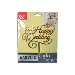 Acrylic Topper (Happy Wedding)